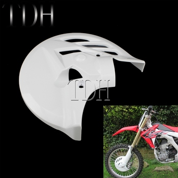 White Motocross Front Brake Disc Cover Rear Calipers Guard Plate Brake Protector for Honda CRF 250 450 CRF250R CRF450R 2013-2017 for honda crf250r crf 250 r crf 250r 2007 2017 08 09 10 11 12 13 14 15 2016 2017 motorcycle motocross pivot brake clutch levers
