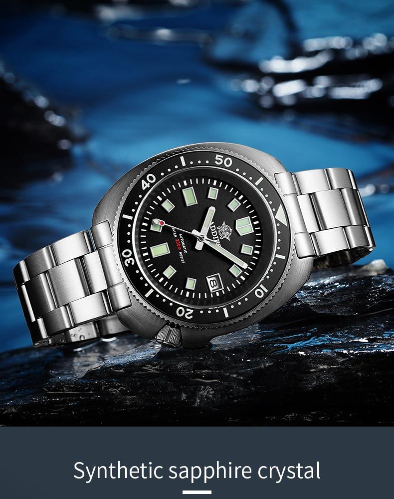 H129b01c0fca14268bdc2a644796f02f6i 1970 Abalone 200m Diver Watch Sapphire crystal calendar NH35 Automatic Mechanical Steel diving Men's watch