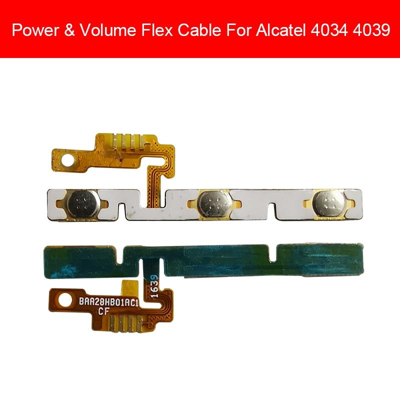 Power & Volume Flex Cable For Alcatel Pixi 4 Vibe OT4034 4034 4034A 4034D Power Flex Ribbon &Side Key Button Keypad Repair Parts