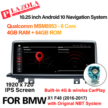 Android 10 Car Multimedia Radio Player For BMW X1 F48 2016-2017 NBT 10.25 Screen Navigation CarPlay Autoradio Stereo Head Unit image