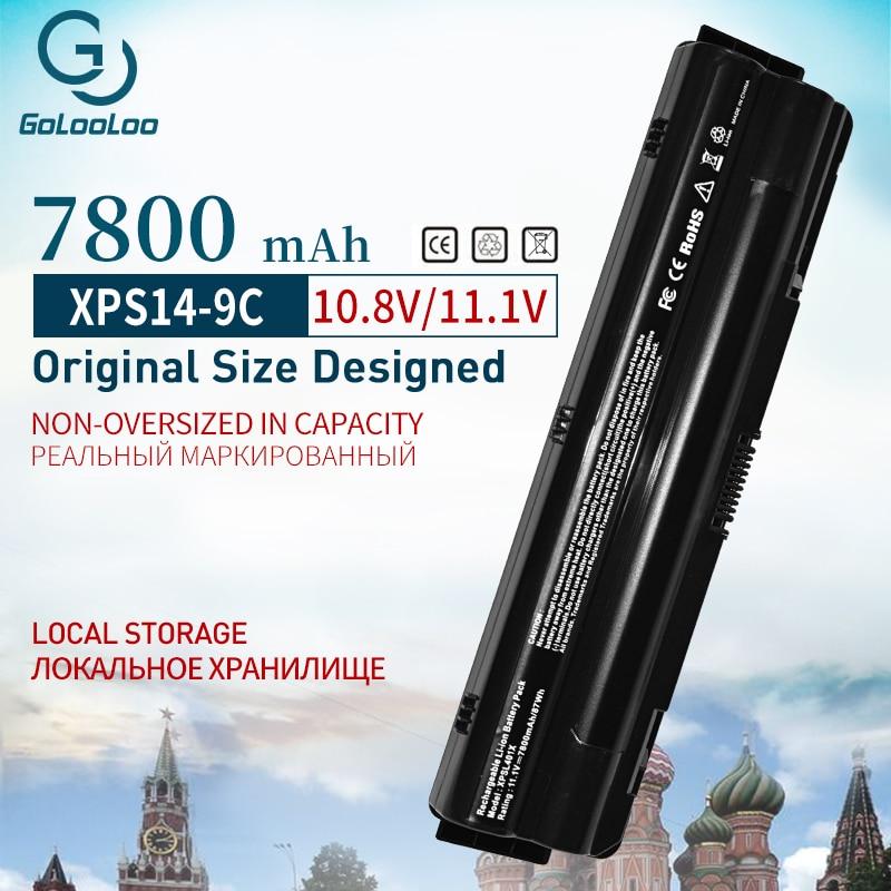 9 Cell 7800mah J70W7 R795X WHXY3 Battery For Dell XPS 14 15 17 L401X L501X L502X L701X L521X 3D L702X 312-1123 312-1127 JWPHF