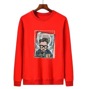 WWKK Men's Hoodies Long Sleeve Sweatshirt 2020 Winter MEN'PROJECT EYUANDI Sweatshirt Streetwear loose Hoodies Men M-4XL Big Size 2