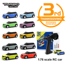 Turbo Racing 1:76 3rd Anniversary Version with 1X Remote Control and 2x cars Mini Full Proportional RC Car RTR Kit Toys