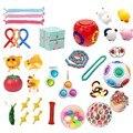 Zappeln Spielzeug Anti Stress Set Stretchy Saiten Popit Geschenk Pack Erwachsene Kinder Squishy Sensorischen Antistress Relief Figet Spielzeug поп ит