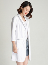 Skin management coveralls high-end customized beauty salon tattoo artist medical plastic oral doctor trim white gown