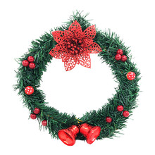 Christmas Wreath Front Door Decorations Garland Winter Hanging Ornaments 2020 Xmas Hanging For Home Decoration #j5