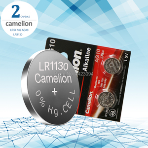 2 шт. Camelion Батарея сотовый 1,5 V AG10 LR1130 Щелочная батарейка-кнопка Батарея AG10 389 LR54 SR54 SR1130W 189 LR1130 аккумуляторы таблеточного типа