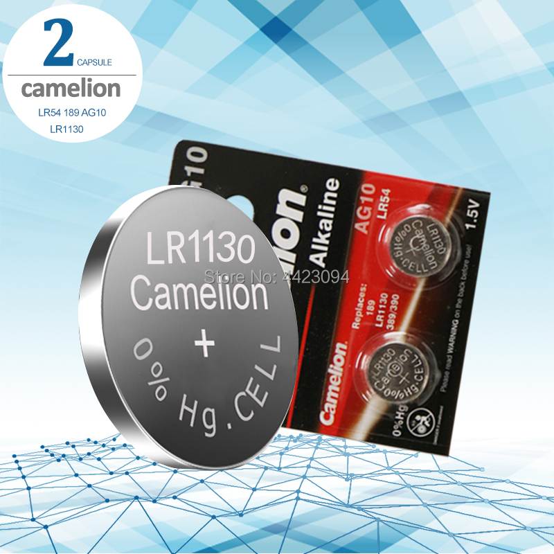 2pcs Camelion Battery Cell 1.5V AG10 LR1130 Alkaline Button Battery AG10 389 LR54 SR54 SR1130W 189 LR1130 Button Batteries