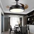 Невидимый потолочный вентилятор-люстра с c алмазные лампы 110v 220v вентиляторы для гостиной Dinnering номер дома; на тонком каблуке; Низкопрофильна...