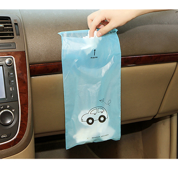 Biodegradable Self-Adhesive Disposable Car Trash Bags 50 pcs Set Bags & Carriers Disposables & Single-Use