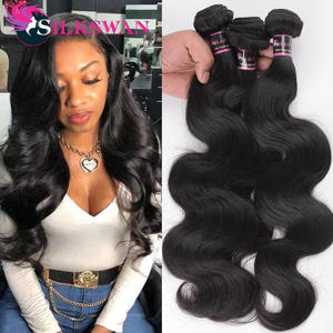 Extentions Hair-Bundles Human-Hair Silkswan Brazilian 30-Inches Weft 24 26-28 3/4pcs/lot