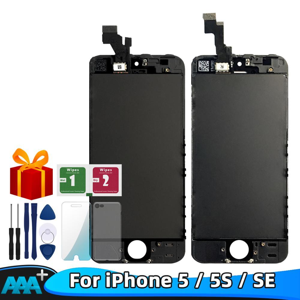 Klasa AAA + jakość LCD dla iPhone 5 5s SE ekran LCD Diaplay LCD Touch 100% testowane działa LCD + szkło + narzędzia darmowa wysyłka