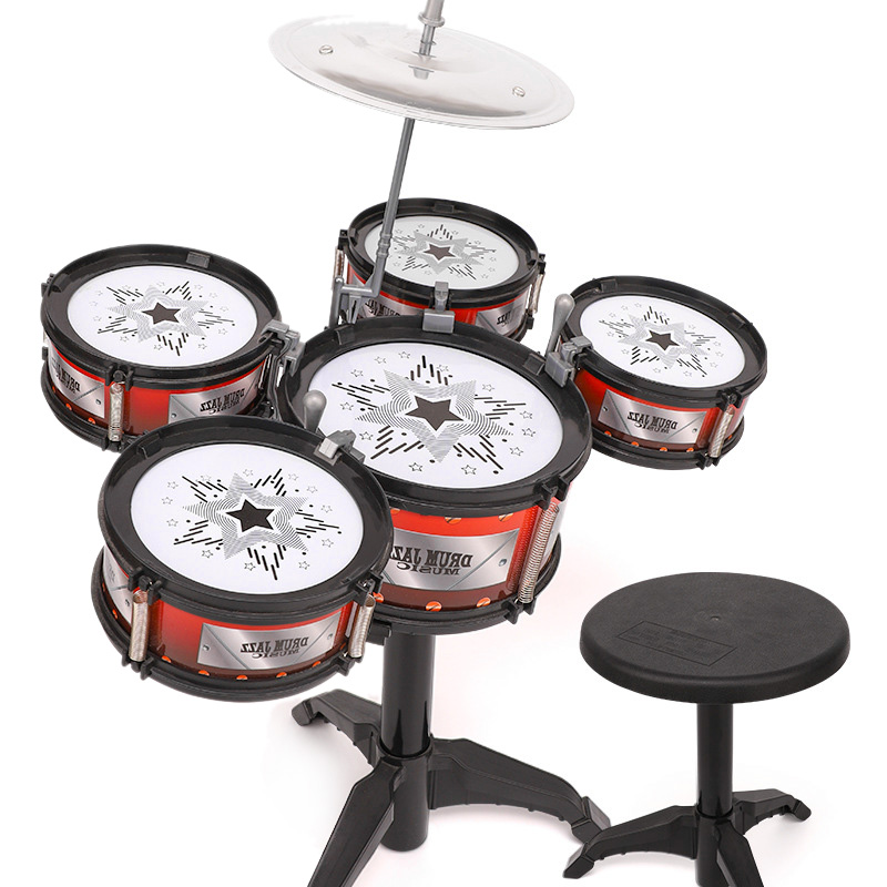 Wireless Instrument Toys For Girls Boy Baby Classical Jazz Drum Drum Kit Children Musical Birthday Present Kids Party Song