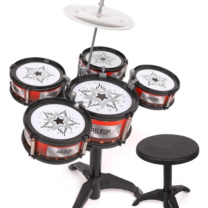 Wireless Instrument Toys For Girls Boy Baby Classical Jazz Drum Drum Kit Children Musical Birthday Present Kids Party Song