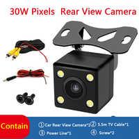 Carro 170 ° invertendo câmera de visão traseira backup estacionamento 4 led visão noturna à prova dwaterproof água