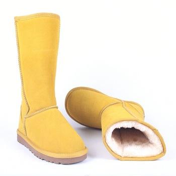 Śniegowce wysokiej jakości kozaki damskie oryginalne skórzane Australia klasyczne damskie wysokie buty zimowe buty damskie buty śniegowce tanie i dobre opinie HIUVTG Prawdziwej skóry Skóra bydlęca Połowy łydki Pasuje prawda na wymiar weź swój normalny rozmiar Okrągły nosek