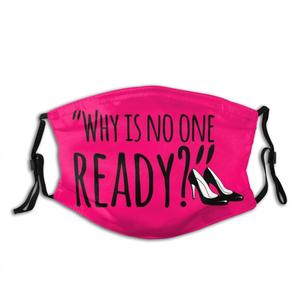 No One Ready Funny Print Reusable Pm2.5 Filter Face Mask Shoes High Heels Impatience Snarky Mood