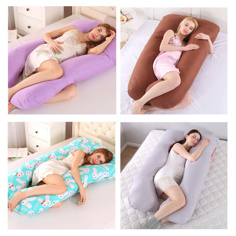 New Sleeping Support Pillow For Pregnant Women Body Cotton Pillowcase U Shape Maternity Pillow Pregnancy Side Sleepers Bedding