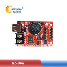 Cheap LED Display Control Card HD-U6A led control card for mini led display USB disk communication