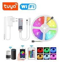 Lámpara inteligente LED Smart Life WIFI en casa iluminación Tuya SMD5050 cinta de Control de voz funciona con Alexa Echo Google home