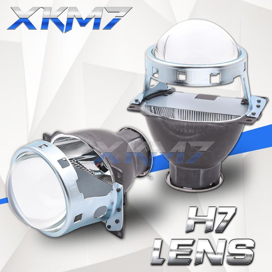 Lenses For Headlights Koito Q5 H7 Lens Single Xenon Projector 3.0 inch H7 D2S D2H LED HID Halogen Bulb Car Lights Accessories