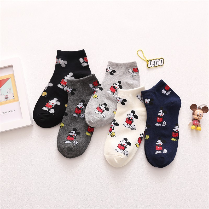 Kawaii Short Ankle Sock  Funny Cute Anime Women Socks Breathable Comfortable Cartoon Character Women Socks Fashion