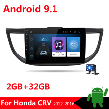"10,1 ""2 Din Android 9,1 coche Radio Multimedia reproductor de Audio para Honda CRV 2012, 2013, 2014, 2015, 2016 4 Core GPS de navegación no DVD BT"