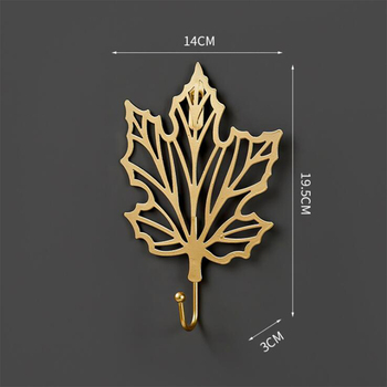 Leaves Shape Iron Hook Nordic Wall Decoration Leaf Key Watch Bags Jewelry Haning Hook Mutifuctional Wall Hanger Rack 13