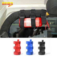 BAWA soporte de extintor de incendios ajustable, correa de montaje para Jeep Wrangler TJ JK JL 1997 + productos interiores de coche