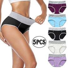 5 pçs roupa interior feminina mais tamanho calcinha menina briefs sexy lingeries calcinha algodão shorts cueca sólida cueca intimate
