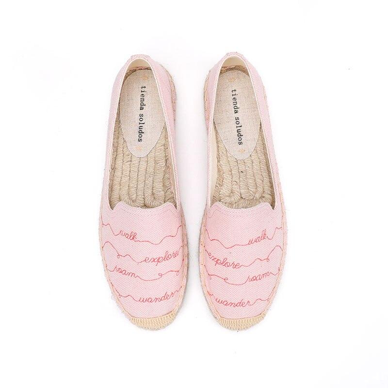 2020 Rushed Hot Sale Hemp Sapatos Zapatillas Mujer Tienda Soludos Womens Shoes Size Espadrilles Flat Women's Ladies Wavy Line
