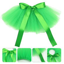 1pc St. Patrick's Day Gauze Skirt Party Pet Clothing Dog Pet Supply (Green)
