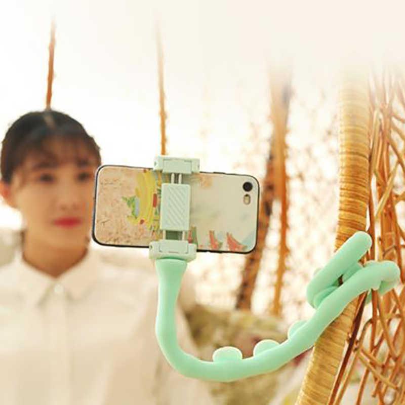 Leuke Rups Lui Beugel Mobiele Telefoon Houder Worm Flexibele Telefoon Zuignap Stand Voor Thuis Muur Desktop Fiets