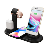 4 in 1 10W Fast Wireless Charger Dock Station Fast Charging For iPhone XR XS Max 8 for Apple Watch 2 3 4 For AirPods For Samsung|Wireless Chargers|   -