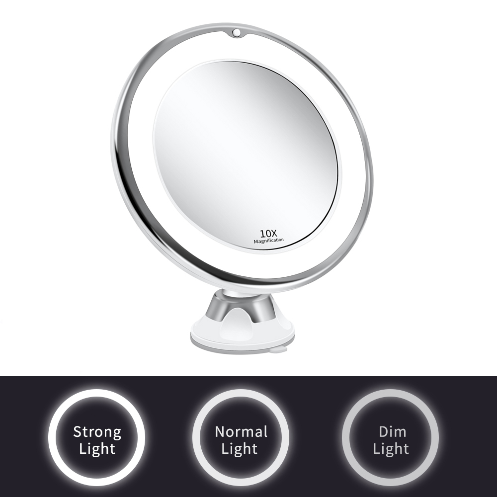 Makeup Vanity Mirror With 10X Lights LED Magnifying Mirror Cosmetic Mirrors Light Magnification LED Make up Mirrors Grossissant 9