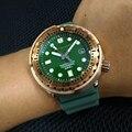 San Martin новые мужские модные часы Автоматические спортивные часы для дайвинга 300 м водостойкий Бронзовый ободок мужские бронзовые часы с тун...