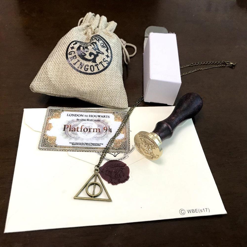 Harriom école timbre en bois feu joint avec Admission avis potier lettre rétro pièces de monnaie banque Jouet cadeau