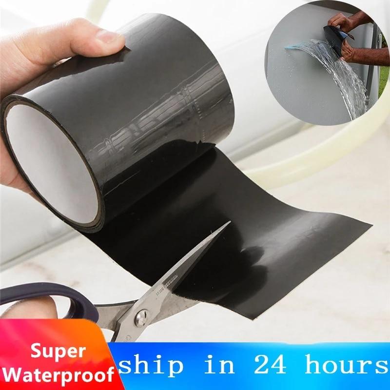 Изоляционная лента сильной фиксации, герметичная водостойкая изоляция от протечек, для ремонта труб