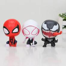 3 pçs/set Filme Spiderman figura toy Spider-man Spider man Gwen Stacy Venom PVC Action figure brinquedos 7.5cm(China)