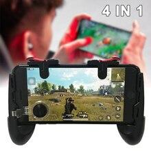 Игровой триггер для мобильного телефона 4 в 1 контроллер Fire V6.0 Кнопка L1R1+ геймпад для PUBG CS контроллер выживания Кнопка шутер