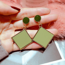 European and American Fashion Acrylic Earrings Korea Geometric Temperament Dropping Oil Female