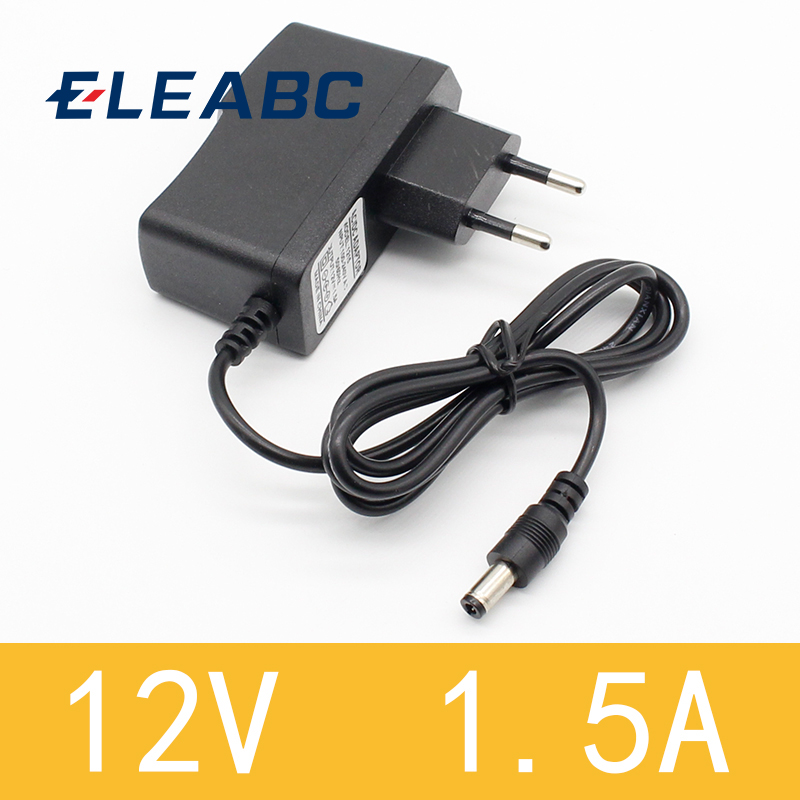 1pcs New AC 100-240V to DC <font><b>12V</b></font> 1.5A Switching Power Supply Converter <font><b>Adapter</b></font> EU Plug image