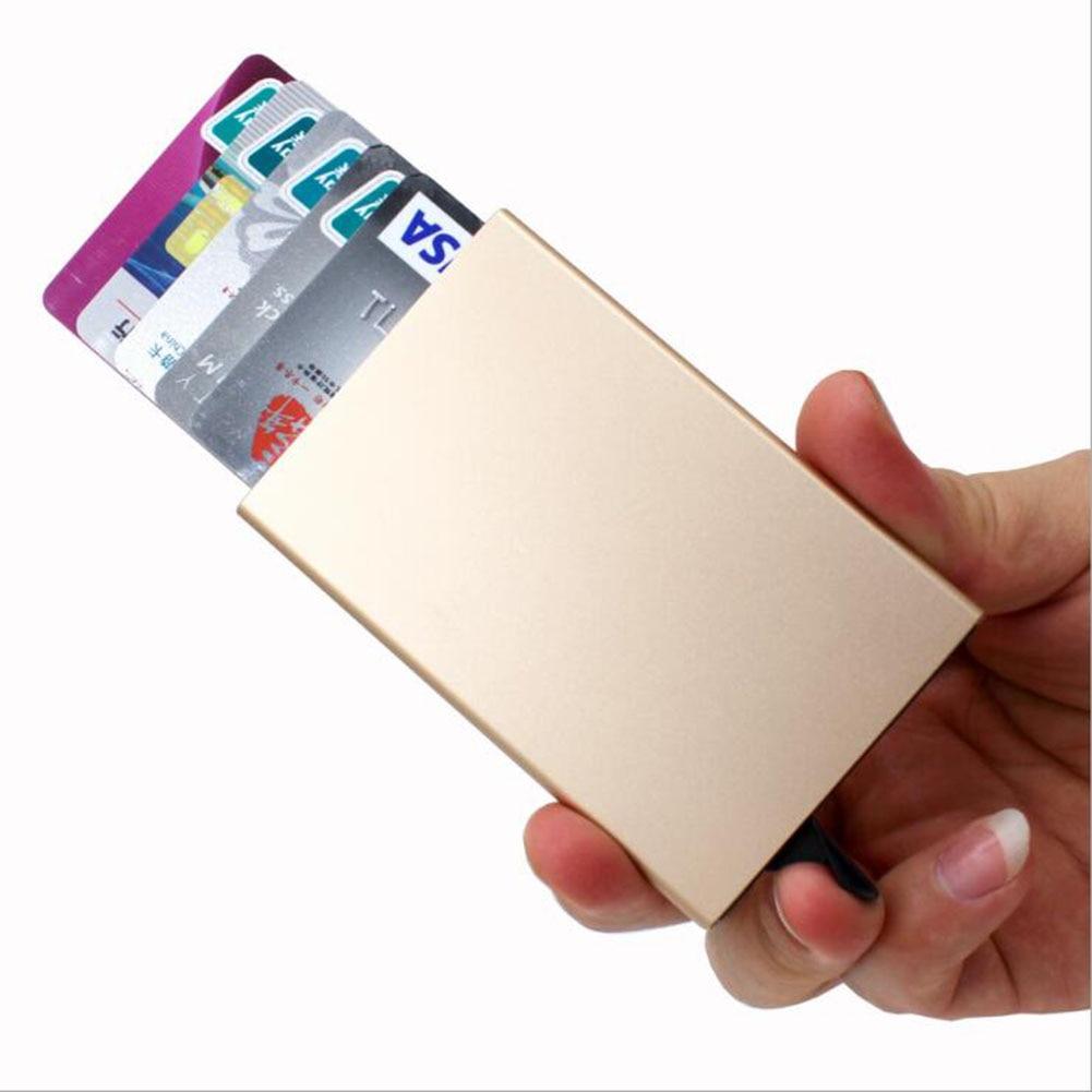 Унисекс держатель для карт из нержавеющей стали алюминиевый держатель для кредитных карт кошельки для карт повседневная мужская коробка д...
