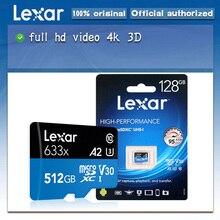 Lexar 633x микро-SD карты Gopro слот для карт памяти Micro SD 512 ГБ, карта памяти, флэш-карты с высоким уровнем производительности 633x MicroSDHC UHS-I карты