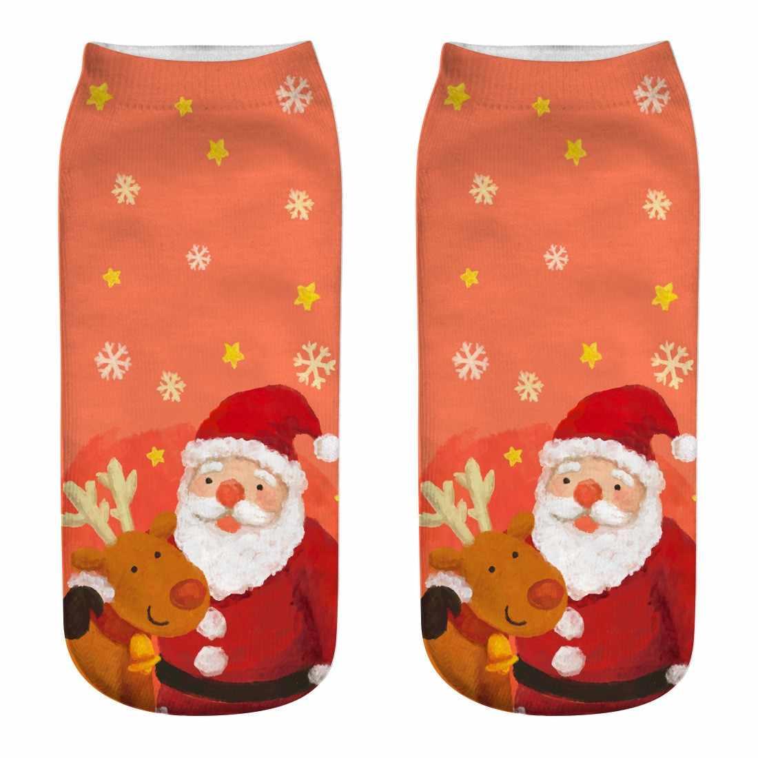 חג המולד 3D Creative הדפסת גרביים חמוד חם קלאסי אופנה מזדמן ספורט כותנה גרבי סתיו וחורף אישיות רך