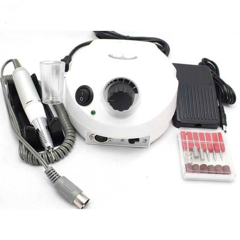 Perceuse à ongles électrique 30000 tr/min appareil pour Kit de pédicure enlever Art polisseur Gel avec foret Placement trou outil ensemble 30000 tr/min