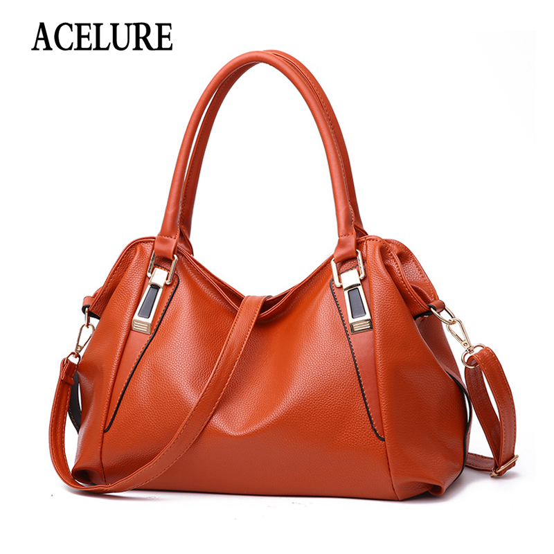 ACELURE Casual Fashion Soft PU Leather High-capacity Crossbody Bags For Women Luxury Handbags Women Bags Designer  Shoulder Bag