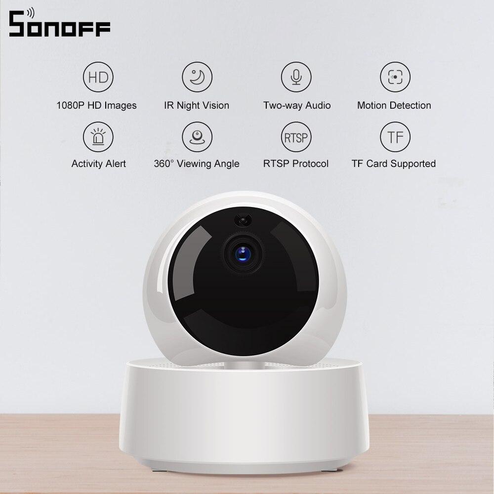 Sonoff GK 200MP2 B 1080P HD беспроводная WiFi IP камера безопасности детектива движения 360 ° Просмотр активности оповещения Ewelink управление приложением