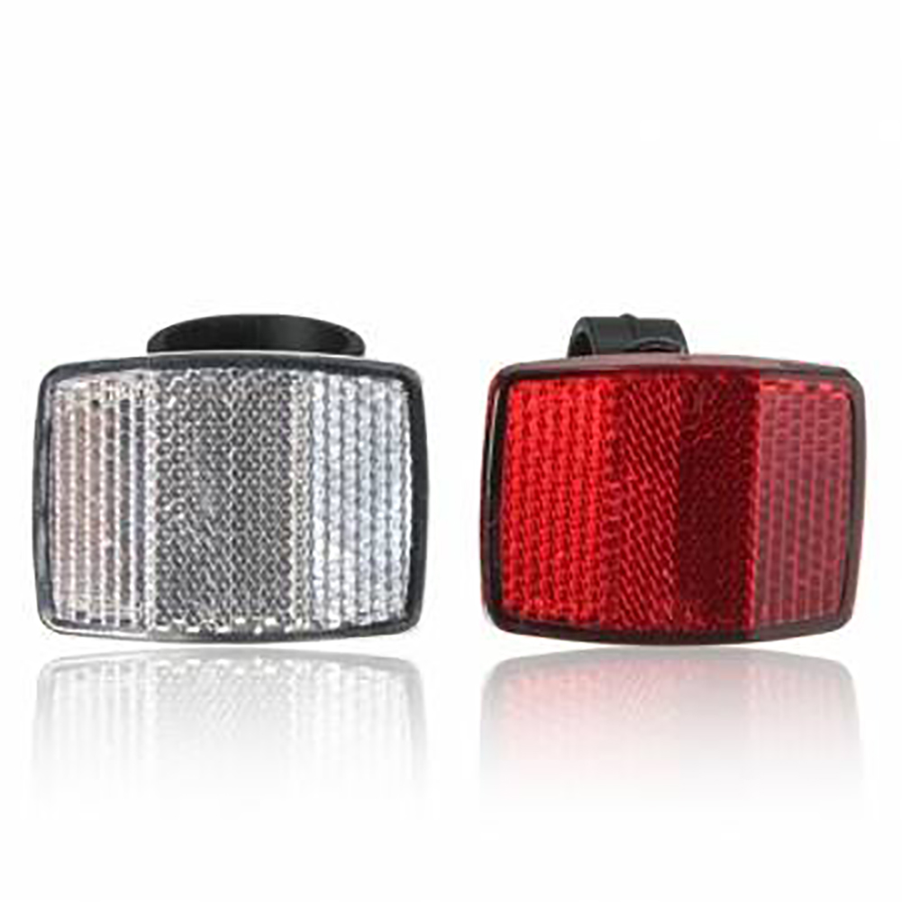 EMVANV Universal Bicycle Safety Reflector, Bike Cycling Safety Front Rear Reflectors, Red Warning Light For Bike(25.4mm,Red)