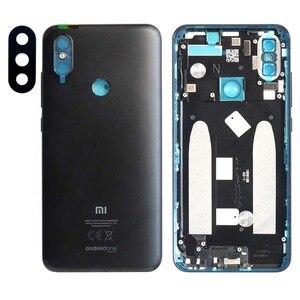 Image 3 - Carcasa trasera para Xiaomi Mi A2, carcasa trasera para batería, reemplazo de botón de volumen de encendido
